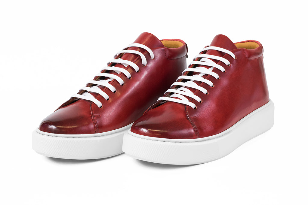 AVIMA LEATHER SHOES JACKSON - RED