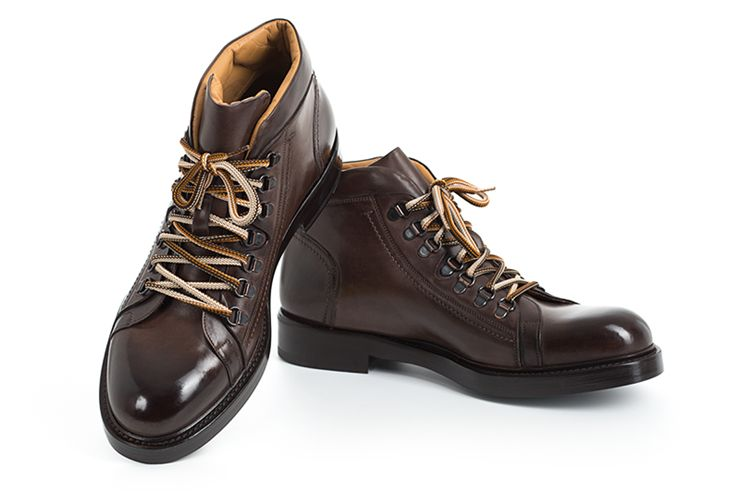 AVIMA LEATHER TROTTON BOOT - BROWN