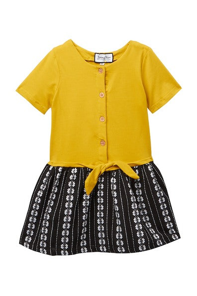 Dress Black and Yellow