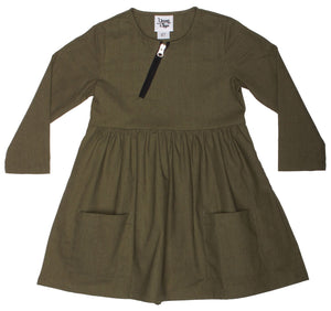 Baby & Toddler Emmy Girls Dress - Olive