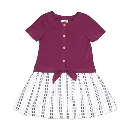 Dress Plum and White