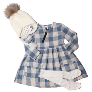 Baby & Toddler Emmy Girls Cotton Dress - Ocean Plaid