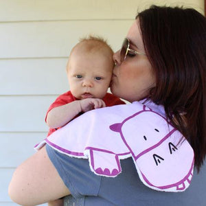 """Dribble Drooler"" Burp Cloth Harry the Hippo"