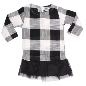 Tunic Dress - Black Plaid
