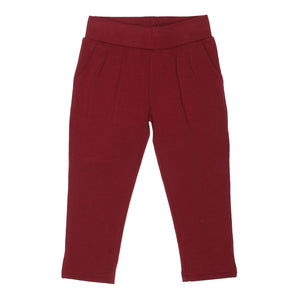 Soft, Cotton Baby and Toddler Girl Leggings - Oxblood