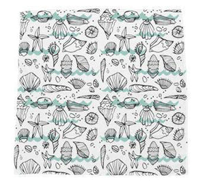 "Swaddle Blanket ""Seashell Bliss"""