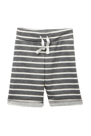 Boys Shorts Grey with White Stripe