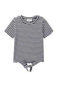 Tie Tee Black with White Stripes