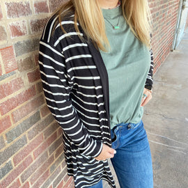Olive Bubble Cardigan with Pockets