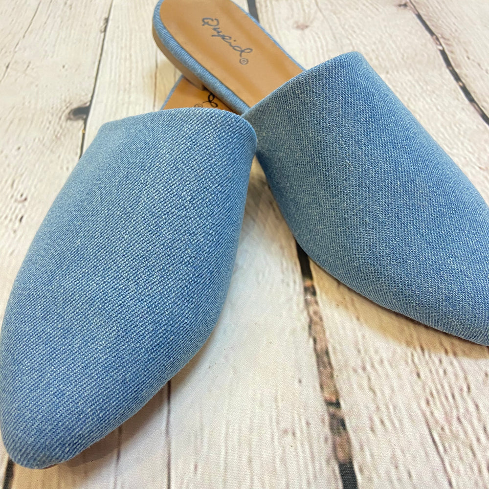 Denim Mule Slide Shoe