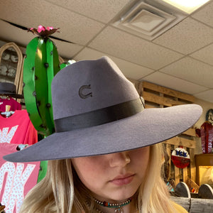 Load image into Gallery viewer, Grey Charlie 1 Horse Highway Felt Hat