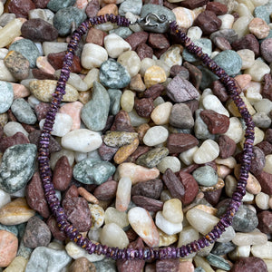 20 inch Genuine Spiny Purple Chip Necklace