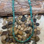 20 inch Genuine Green Turquoise Chip necklace