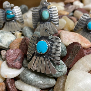 Genuine Sterling Silver Thunderbird with Turquoise Stone
