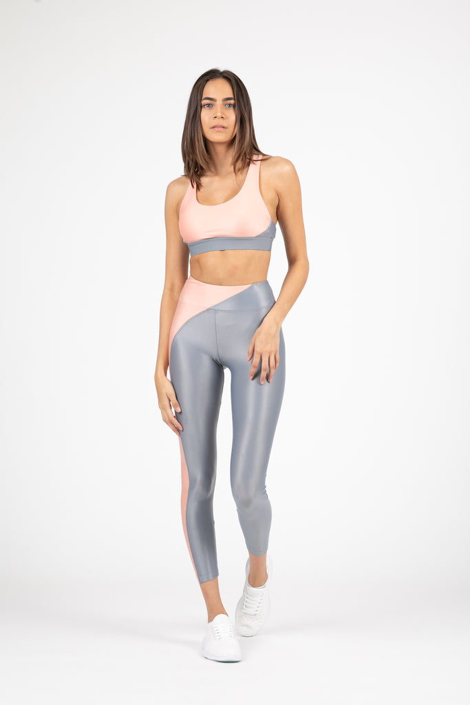 Chase High Rise Infinity Legging Rose/Grey