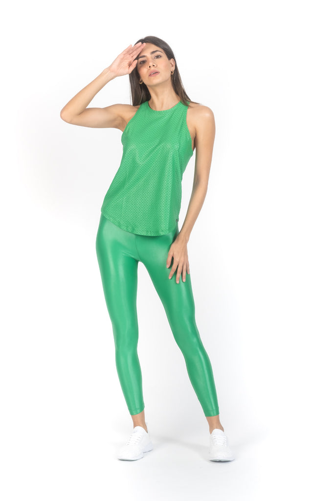 Lustrous High Rise Legging Emerald