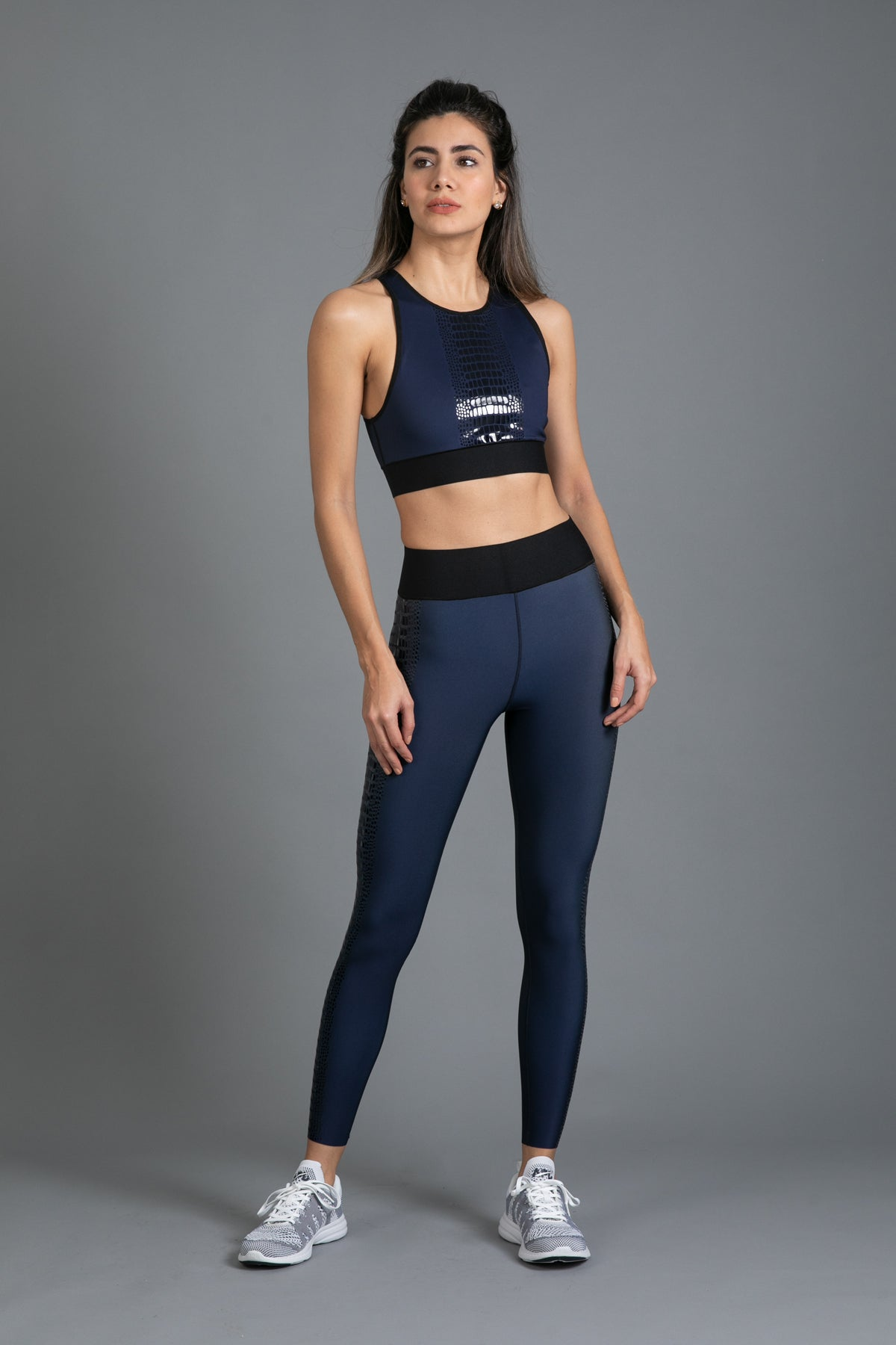 Ultra High Crocodile Legging Indigo