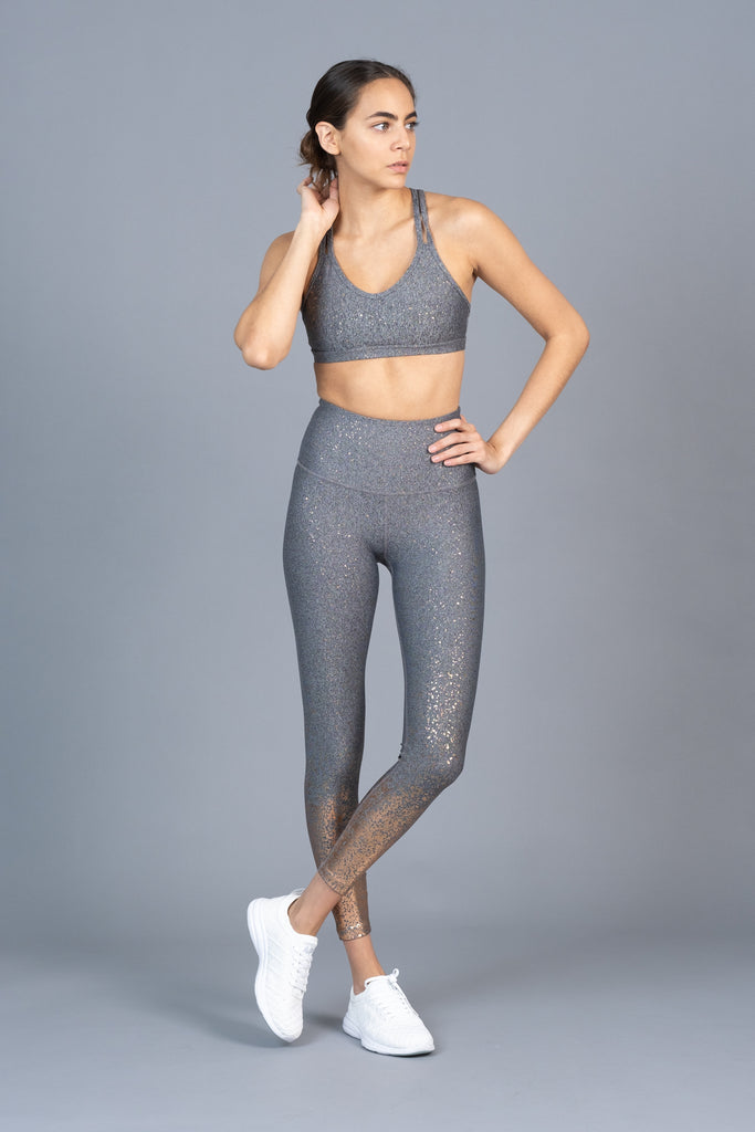 Alloy Ombre High Waisted Tight Gunmetal