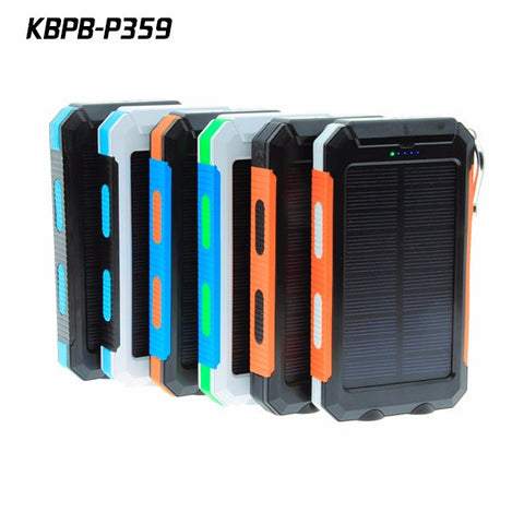 10000MAh Portable Solar Power Bank Panel Backup External Battery Camping solar Charger