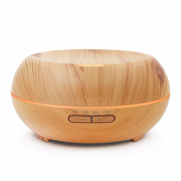Aromatherapy Ultrasonic Wood Grain Diffuser Aroma Mist Dispenser Humidifier 200ML