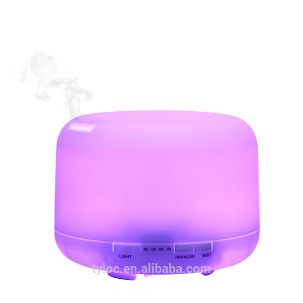 500ml Ultrasonic Aroma Cool Mist Humidifier Essential Oil Diffuser with 7 Colors Led Wholesale