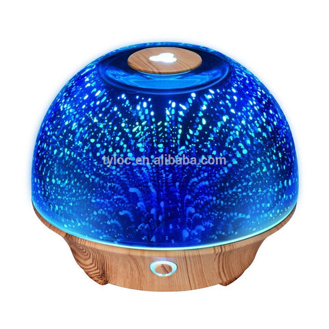 200ML Ultrasonic Fragrance Essential Oil Diffuser With 3D Glass