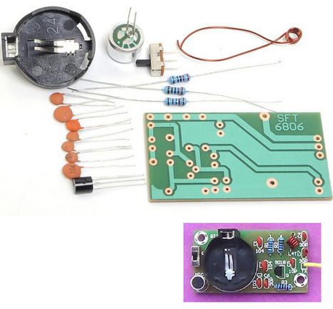 FM Frequency Modulation Wireless Microphone Module DIY Kit