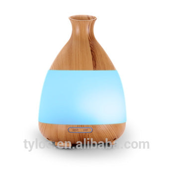 Wood Style Home Ultrasonic Aromatherapy Essential Oil Diffuser 120ml Led Lights Changing