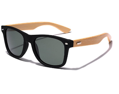 100% Bamboo Vintage stylish Sunglasses + UV 400 Protection
