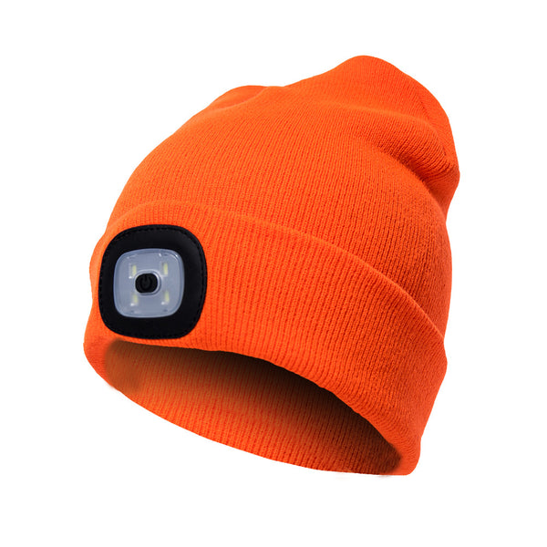 LED beanie hat warm with light