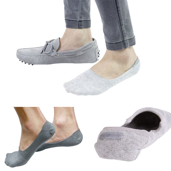 No Show Bamboo Socks with Heel Grip, Low Socks for Casual and Athletic Wear