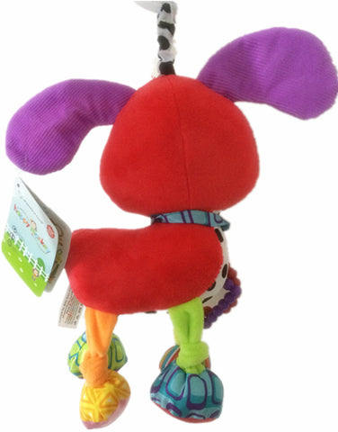 Brand Bed stroller Hanging 37cm Dog Plush vibration Toy Rattle Teether newborn