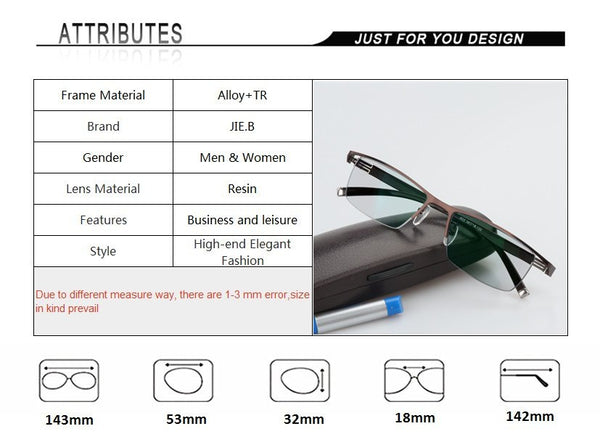 Transition Sunglasses Photochromic  for Titanium alloy Frame