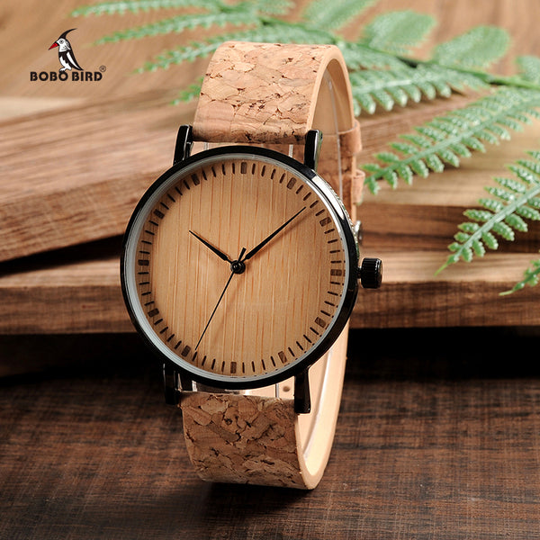 Wooden Dial Watches WITH Cork Strap