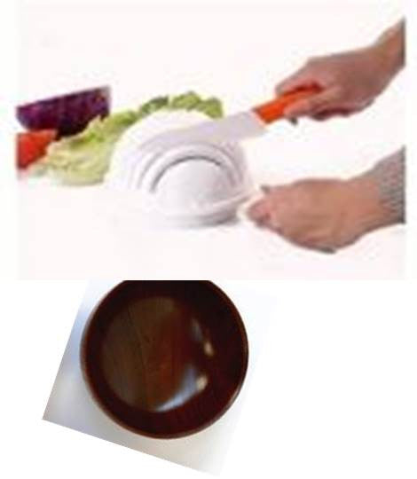 Salad bundle Whole Wooden Bowl multiple sizes Noodle Bowl Tableware and cutter bowl