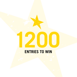 1,200 Entries to Win (200 Bonus Entries)