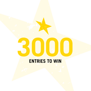 3,000 Entries to Win (500 Bonus Entries)
