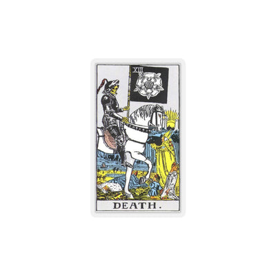Death Tarot Card Kiss-Cut Stickers