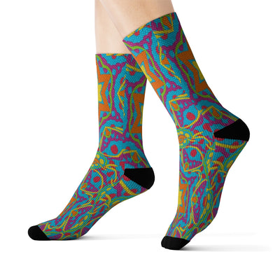 GSM Kaleidoscope Socks