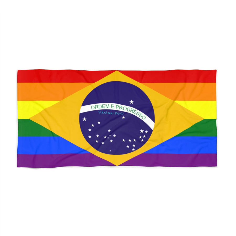 LGBT Brazil Beach Towel