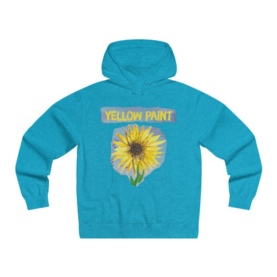 Yellow Paint (sunflower) - Lightweight Pullover Hooded Sweatshirt