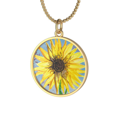 Yellow Paint (Sunflower) Necklace