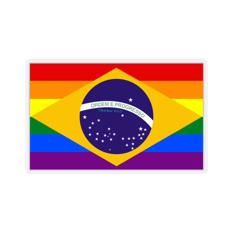 LGBT Brazil - Kiss-Cut Stickers