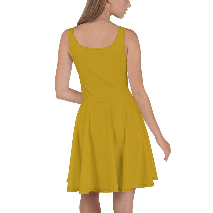 Sunflower Orange Skater Dress (skateboarding)