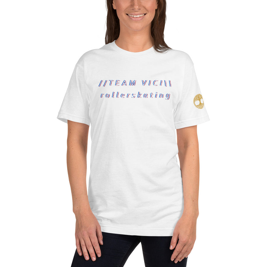 Team Vici Rollerskating - Unisex American Apparel T-shirt (skateboarding)
