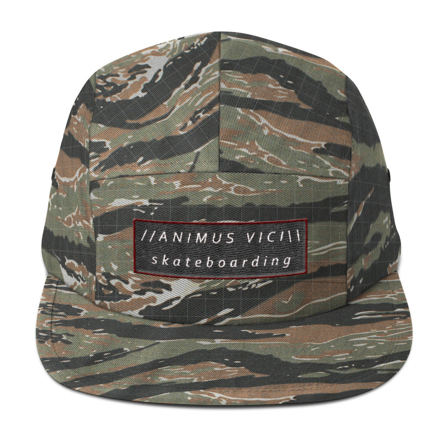 Animus Vici Skateboarding Red 5Panel Hat