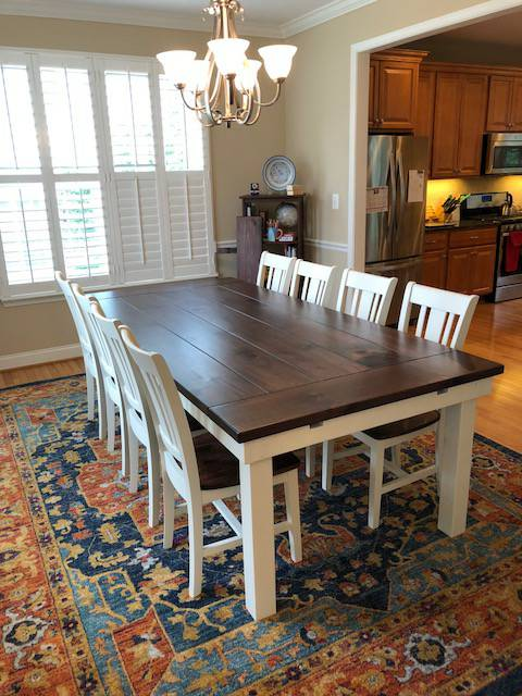 Monroe Farmhouse Table - Red Oak