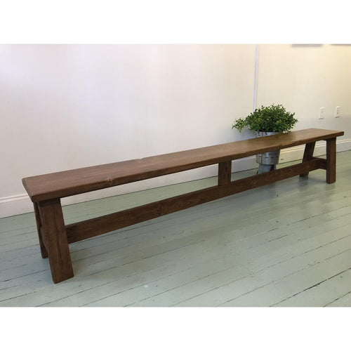 A-frame Bench - Red Oak