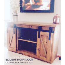 Load image into Gallery viewer, Sliding Barn Door Console