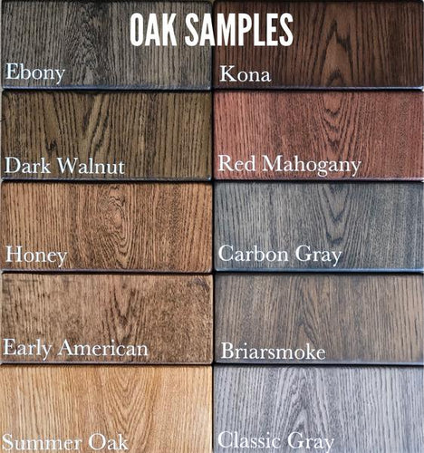 Oak Stain/Paint Samples - $10.00